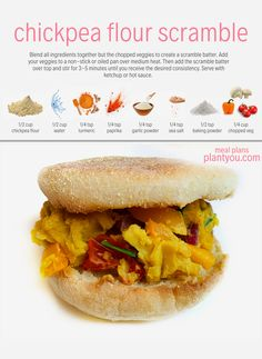 This will be the most delicious vegan breakfast sandwich you will ever have! We love making your plant-based breakfast h Vegan Foods, Vegan Dishes, Vegan Vegetarian, Vegetarian Recipes, Healthy Recipes, Vegan Egg, Whole Food Diet, Whole Food Recipes, Cooking Recipes