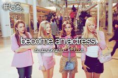 become an actress