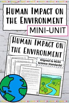The perfect unit to teach your students about the way humans impact the Earth! Your students will learn about how we impact the water, air, vegetation, land, and soil. They will also learn about renewable resources, nonrenewable resources, nonrenewable energy resource, and renewable energy resources!