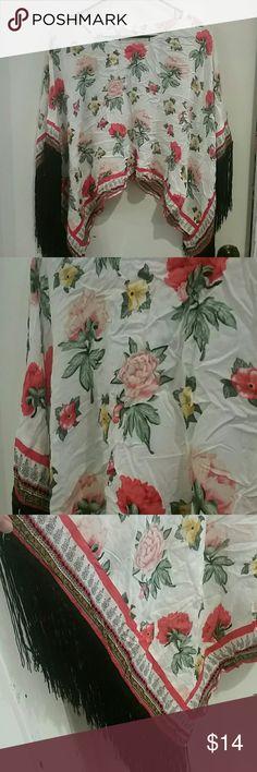 H&M Coachella Floral Fringe Top Beautiful floral fringe top by H&M. NWT. H&M Tops