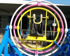 Beston human gyroscope ride for sale, the favorite of kids and adults. Visit http://www.bestonkidsrides.com/human-gyroscope-ride-for-sale/ for more space ball rides for sale.