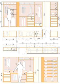 45 Standard Dimensions Of Furniture - Engineering Discoveries Wardrobe Design Bedroom, Bedroom Wardrobe, Walk In Closet Design, Closet Designs, Wardrobe Dimensions, Walk In Closet Dimensions, Interior Design Presentation, Closet Layout, Dressing Room Design