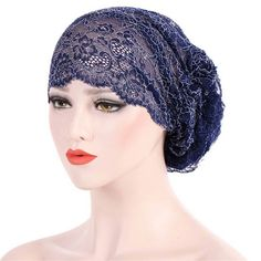 0a2acbf2da0 Vintage Muslim Cotton Hollow Out Breathable Chemical Turban Hat Outdoor  Soft Beanie Cap for Women