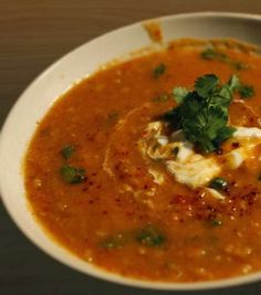 Spicy #Lentil_Soup.  Click For Recipe