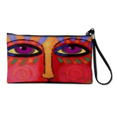 Abstract Art Clutch Purse Wristlet Printed with My by jackieludtke