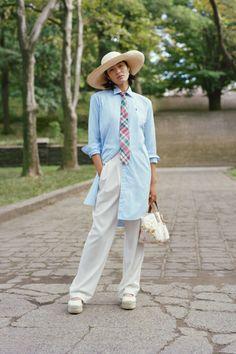 Ralph Lauren Style, Polo Ralph Lauren, Spring Outfits Women, Denim And Supply, Straight Leg Pants, Work Fashion, Mantel, Normcore, Shirt Dress