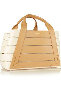 Balenciaga   Cutout leather tote   NET-A-PORTER.COM