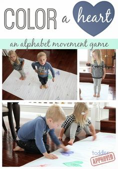 Toddler Approved!: Color a Heart: An Alphabet Movement Game for Kids