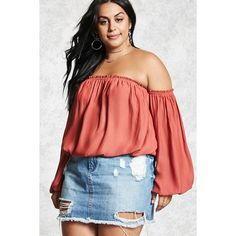 b54984392eb4a8 Forever21 Plus Size Chiffon Crop Top ( 20) ❤ liked on Polyvore featuring  tops