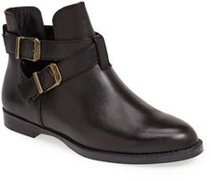 $99, Bella Vita Raine Leather Bootie. Sold by Nordstrom. Click for more info: https://lookastic.com/women/shop_items/164679/redirect