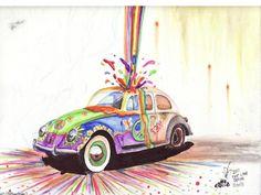 Ric Stultz Style VW Beetle 2 by FastLaneIllustration