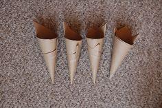 Brown paper confetti cones