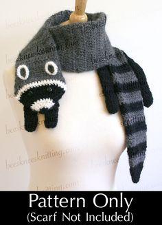 Digitale PDF Crochet Pattern per Raccoon di BeesKneesKnitting