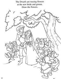 snow white colouring pages: d_princesses Snow White Coloring Pages, Fairy Coloring Pages, Coloring Books, Disney Princess Snow White, 7 Dwarfs, Disney Colors, Chica Anime Manga, All Pictures, Map