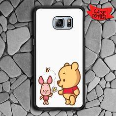 Winnie The Pooh Samsung Galaxy S7 Edge Black Case