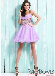 Tony Bowls TS21323 Lilac Short Formal Dress