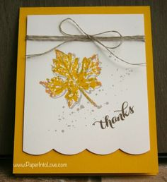 Stampin Up Gently Falling Thanks 1
