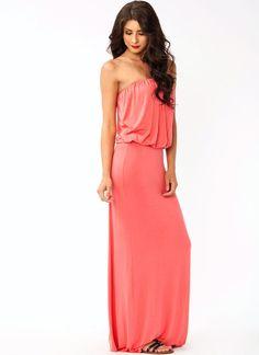 strapless maxi dress $37.10