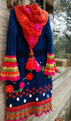 Gilet Crochet, Crochet Cord, Crochet Jacket, Crochet Cardigan, Knit World, Crochet Fashion, Knit Patterns, Crochet Clothes, Pretty Outfits