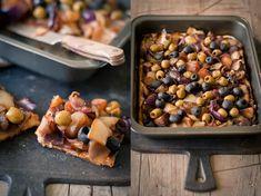 Sweet Pixel: Koláč s karamelizovanou cibulkou a olivami Cereal, Veggies, Fruit, Breakfast, Sweet, Food, Morning Coffee, Candy, Vegetable Recipes