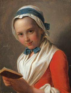 Lezende jonge vrouw, door Pietro Antonio Rotari