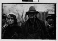 Walker Evans - Old Man and Woman watching Parade, Johnstown, Pennsylvania, 1935