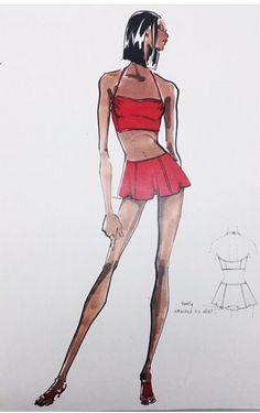 Swimwear design for Anne Klein Swimwear 1994