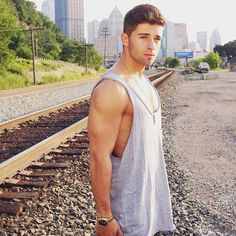 Jake Miller looked so handsome in his latest Instagram photo-share from his tour stop in Pittsburgh. His tank top really showcases his toned arms, so we're not complaining.