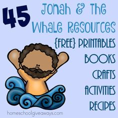 If you're studying Jonah and the Whale, be sure to catch these great resources! From printables to books to recipes and MORE! Preschool Bible Lessons, Bible Activities For Kids, Bible Lessons For Kids, Bible For Kids, Playgroup Activities, Preschool Class, Church Activities, Kindergarten, Sunday School Lessons