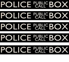 Police Public Call Box - Signage--use with the papercraft boxes, on invites, thank you's...""