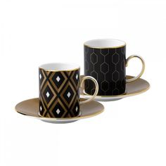 Wedgwood Arris Espresso Cup and Saucer Pair (Geometric/Honeycomb) (1 170 SEK) ❤ liked on Polyvore featuring home, kitchen & dining, drinkware, wedgwood, espresso cup saucer, espresso coffee cups and saucers, espresso cups and saucers and tea cup & saucer