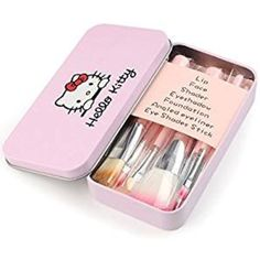 2fea5d583 Cute Hello KItty 7PCS Makeup Brush Set Foundation Eyebrow Eyeliner Blush  Cosmetic Concealer Brushes Pink (