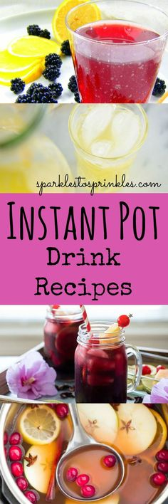 20 Instant Pot Drink Recipes that are sure to quench your thirst, warm your tummy and help fight off colds. Pin for Later! Sangria Recipes, Drinks Alcohol Recipes, Drink Recipes, Best Instapot Recipes, Pressure Cooking Recipes, Best Instant Pot Recipe, Instant Recipes, Refreshing Summer Drinks, Easy Casserole Recipes