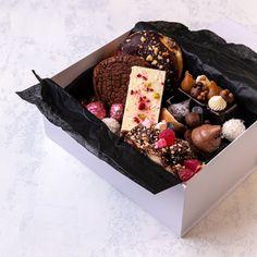 CHOC-ONNOISSEUR Mini Dessert Cups, Dessert Boxes, Mini Desserts, Chocolate Flavors, Chocolate Desserts, Charcuterie Gift Box, Cookie Packaging, Packaging Ideas, Food Business Ideas