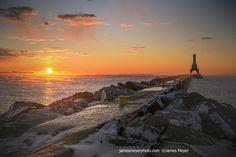 November Sunrise in Port Washington WI IV