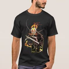Shop Ghost Rider With Knives T-Shirt created by marvelknights. Personalize it with photos & text or purchase as is! Viking Shirt, Warriors T Shirt, Ghost Rider, Tshirt Colors, Vikings, Shirt Style, Fitness Models, Fans, Casual