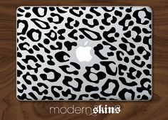 Cheetah print vinyl decal sticker for macbook by MadeByDecal Macbook Hard Case, Macbook Pro, Computer Skins, Macbook Stickers, Laptop Covers, Laptop Accessories, Apple Products, Laptop Decal, Crafts To Do