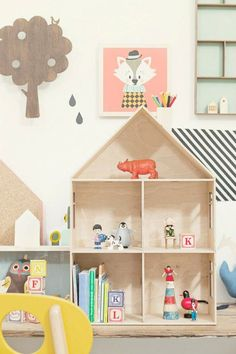 love the fox and house bookcase