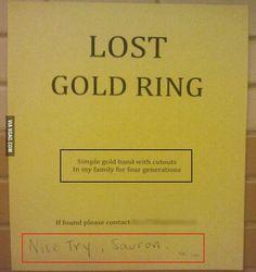 Nice Try, Sauron