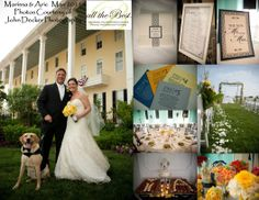 Cape May wedding at Congress Hall. Chuppah on the lawn with an ocean view. Their pet dog acted as ring bearer and was prominently featured on the candy buffet bags Wedding Coordinator, Wedding Planner, Destination Wedding, Candy Buffet Bags, May Weddings, Chuppah, Ring Bearer, Celebrity Weddings, Corporate Events