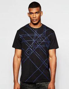 Imagen 1 de Camiseta con estampado de cuadrícula de DKNY