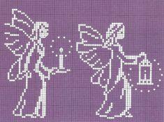 REGINA RECEITAS DE CROCHE E AFINS: ponto cruz.anjos