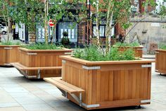 Image result for planters with bench seating