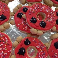 """How's this for creativity?@compendium74 used our """"soccer ball cookie cutter"""" and made a few minor adjustments to make what is arguably the world's cutest donut cookies."""