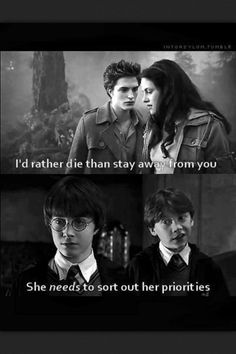 I like the twilight BOOKS... but This is exactly why Harry Potter will be classic and Twilight will not.