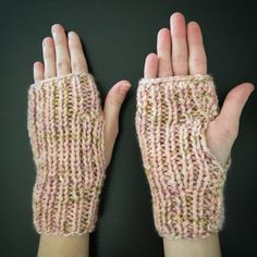 A personal favorite from my Etsy shop https://www.etsy.com/listing/491620561/fingerless-mittens-hand-knitted