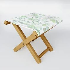 Euculyptus Pattern Folding Stool Peach Trees, Outdoor Floor Cushions, Folding Stool, When It Rains, Kick Backs, Acrylic Box, Table Cards, Drafting Desk, Planting Flowers