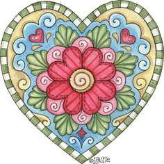 Doodle Heart by Laurie Furnell