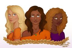 Annabeth Chase, Piper McLean & Hazel Levesque | art by isuani | Artwork
