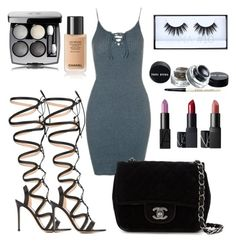 """Unbenannt #234"" by lailabalic ❤ liked on Polyvore featuring Topshop, Gianvito Rossi and Chanel"